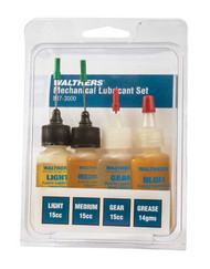 Walthers Assorted Lubricant Set - Includes Light/Medium/Gear Oil and Grease