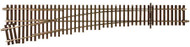 Atlas O Scale Code 148 Solid Nickel Silver 2-Rail - #5 Left Hand Turnout