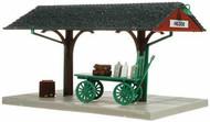 Atlas HO Scale Model Railroad Building Kit Passenger Train Station Platform