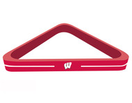 Solid Wood NCAA Wisconsin Badgers 8-Ball Billiards/Pool Table Triangle Rack