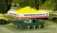 Atlas HO Scale Model Railroad Building Kit Refreshment Stand/Restaurant