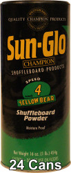 Sun-Glo Speed #4 Shuffleboard Table Powder Wax - 24 Cans