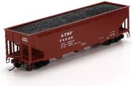 Athearn HO Scale 40' 3-Bay Offset Hopper/Load Santa Fe/ATSF (Brown) #78526