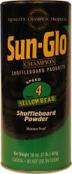 Sun-Glo Speed #4 Yellow Bear Shuffleboard Table Powder Wax - 1 Can