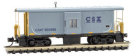 Micro-Trains MTL N-Scale 36ft Bay Window Caboose CSX/CSXT Gray/Yellow #903968