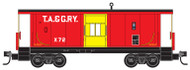 Micro-Trains MTL N-Scale 31ft Bay Caboose Tennessee Alabama & Georgia/TAG #x72