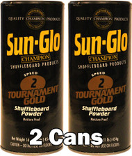Sun-Glo Speed #2 Shuffleboard Table Powder Wax - 2 Cans