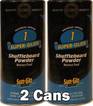 Sun-Glo Speed #1  Shuffleboard Table Powder Wax - 2 Cans