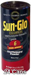 Sun-Glo Speed #6 Shuffleboard Table Powder Wax - 24 Cans