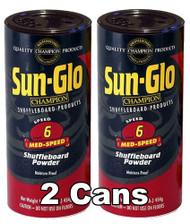 Sun-Glo Speed #6 Shuffleboard Table Powder Wax - 2 Cans