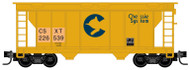 Micro-Trains MTL Z-Scale 2-Bay Covered Hopper CSX/Chessie Patched #226539