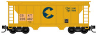 Micro-Trains MTL Z-Scale 2-Bay Covered Hopper CSX/Chessie Patched #226482