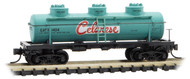 Micro-Trains MTL N-Scale 3-Dome Tank Car Celanese/GATX (Green/White/Red) #1404