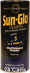 Sun-Glo Speed #5 Shuffleboard Table Powder Wax - 24 Cans