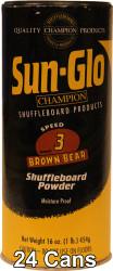 Sun-Glo Speed #3 Shuffleboard Table Powder Wax - 24 Cans