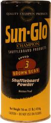 Sun-Glo Speed #3 Brown Bear Shuffleboard Table Powder Wax - 1 Can