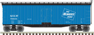 Atlas O Scale 40' Wood Reefer - 2-Rail - Milwaukee Road (Blue/Black/Ice) #79031