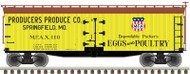 Atlas O Scale 40' Wood Reefer - 2-Rail - Producers Produce Co./MFAX #110