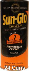 Sun-Glo Speed #7 Shuffleboard Table Powder Wax - 24 Cans