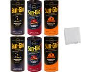 Sun-Glo SLOW Mix Shuffleboard Powder Wax 6 Pack - 2 cans of Speed 5-7 + Talc Bag