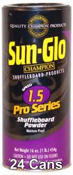 Sun-Glo Speed #1.5 Shuffleboard Table Powder Wax - 24 Cans