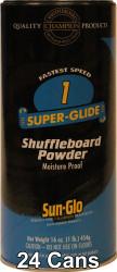 Sun-Glo Speed #1 Shuffleboard Table Powder Wax - 24 Cans