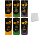Sun-Glo MED Mix Shuffleboard Powder Wax 6 Pack - 2 cans of Speed 3-5 + Talc Bag