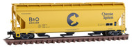 Micro-Trains MTL N-Scale 3-Bay Centerflow Covered Hopper Chessie/B&O #602259