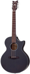 Schecter Orleans Stage-7 Acoustic/Electric Guitar  Satin See Thru Black