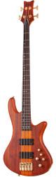 Schecter Stiletto Studio-4 Electric 4 String Bass Guitar Honey Satin