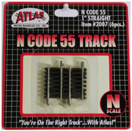 "Atlas N Scale Code 55 1"" Straight 6-Pack Model Train Track"