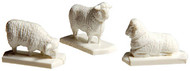 Atlas HO Scale Model Railroad/Train Accessory Sheep (12 White & 1 Black)