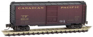 Micro-Trains MTL Z-Scale 40ft Box Car Canadian Pacific #29110 Weathered/Hobo Tag