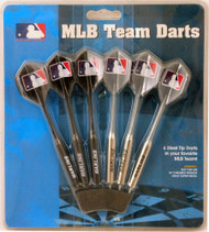 Set of 6 MLB Miami Florida Marlins Steel Tip Darts & Flights with MLB Logo