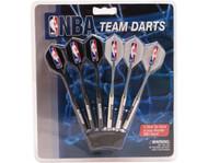 Set of 6 NBA Houston Rockets Steel Tip Darts & Flights with NBA Logo