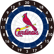 "MLB St. Louis Cardinals 12"" Paper Dart Board With Darts-Limited Quantity!!"