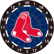 "MLB Boston Red Sox 12"" Paper Dart Board With Darts-Limited Quantity!!"