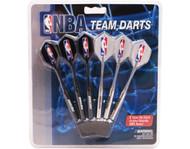 Set of 6 NBA Detroit Pistons Steel Tip Darts & Flights with NBA Logo