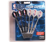 Set of 6 NBA Toronto Raptors Steel Tip Darts & Flights with NBA Logo