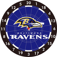 "NFL Baltimore Ravens 12"" Paper Dart Board With Darts-Limited Quantity!!"