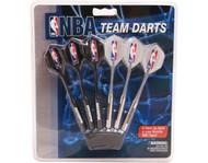 Set of 6 NBA Golden State Warriors Steel Tip Darts & Flights with NBA Logo