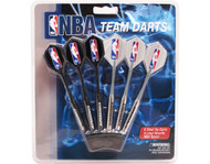 Set of 6 NBA Seattle Supersonics Steel Tip Darts & Flights with NBA Logo
