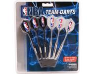 Set of 6 NBA Atlana Hawks Steel Tip Darts & Flights with NBA Logo