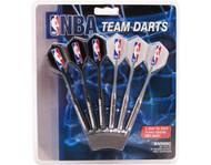Set of 6 NBA Minnesota Timberwolves Steel Tip Darts & Flights with NBA Logo