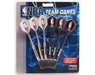 Set of 6 NBA Memphis Grizzlies Steel Tip Darts & Flights with NBA Logo