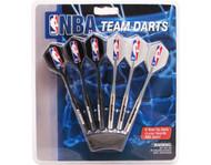 Set of 6 NBA Denver Nuggets Steel Tip Darts & Flights with NBA Logo