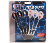 Set of 6 NBA Los Angeles Clippers Steel Tip Darts & Flights with NBA Logo