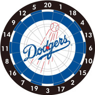 "MLB Los Angeles Dodgers 12"" Paper Dart Board With Darts-Limited Quantity!!"