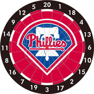 "MLB Philadelphia Phillies 12"" Paper Dart Board With Darts-Limited Quantity!!"