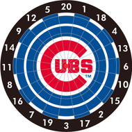 "MLB Chicago Cubs 12"" Paper Dart Board With Darts-Limited Quantity!!"